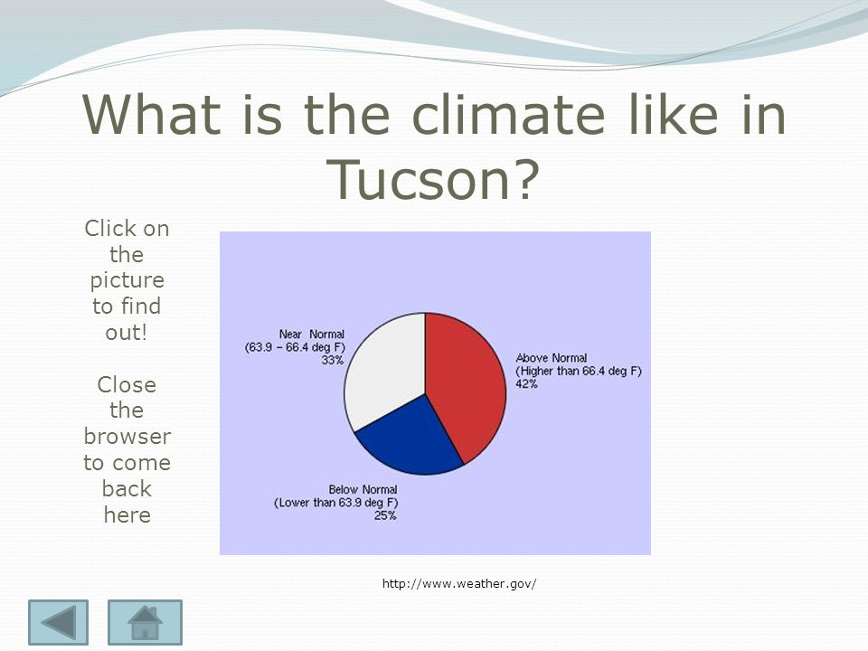 What is the weather like today in Tucson. Click on the picture to find out.