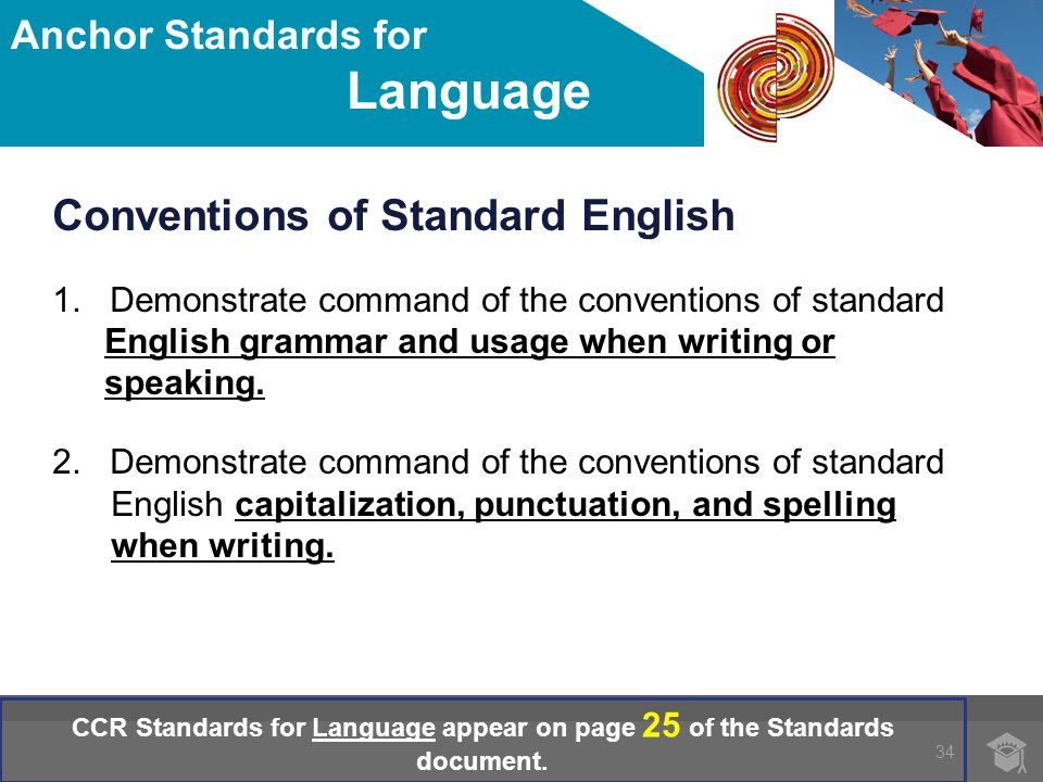 Conventions of Standard English 1.