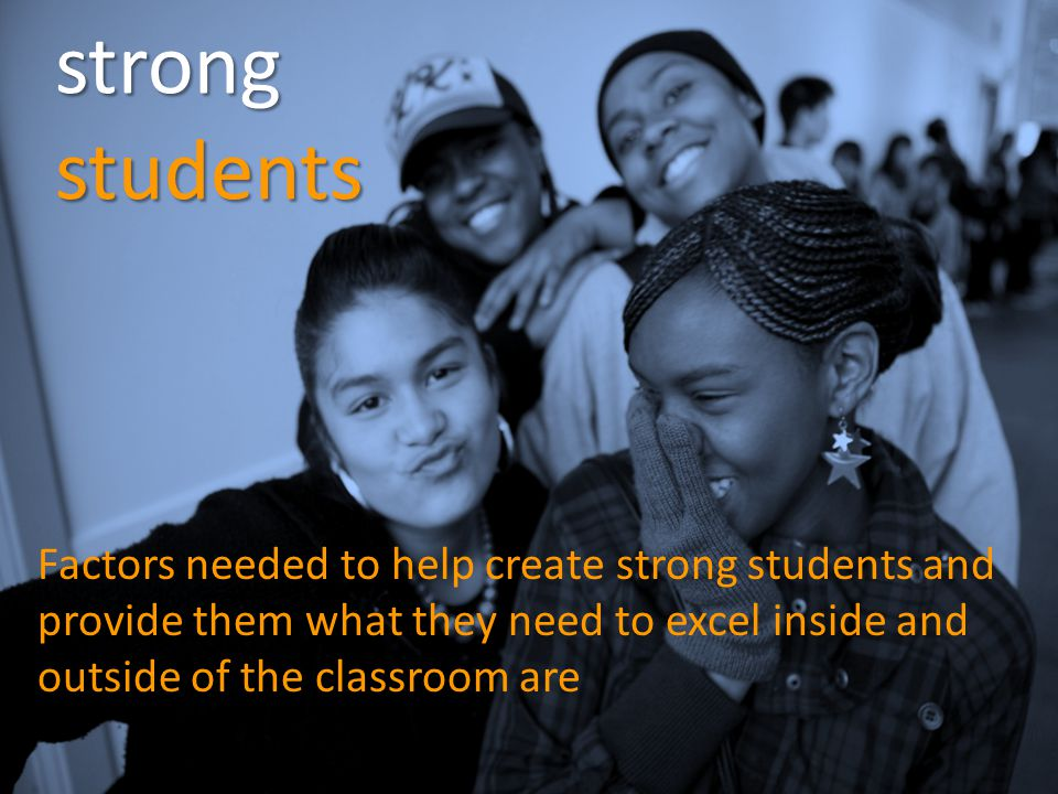 strong students caring relationships & high expectations from peers and adults at home and in school