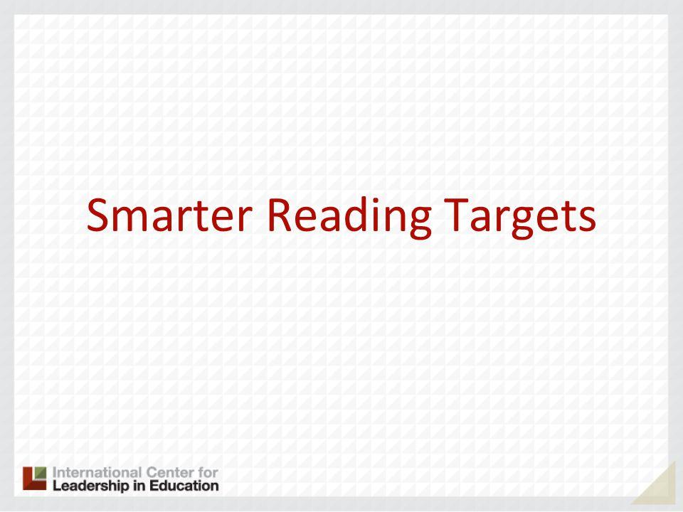 Smarter Reading Targets