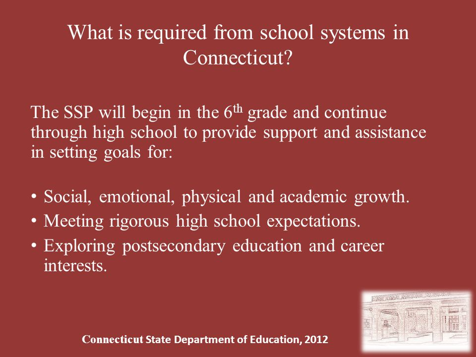 What is required from school systems in Connecticut.