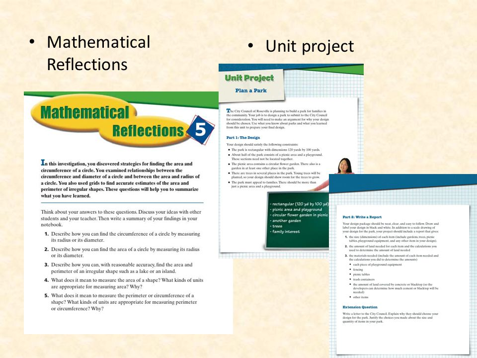 Mathematical Reflections Unit project