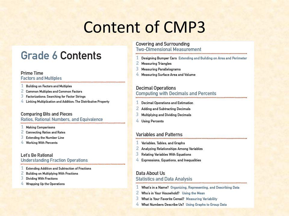 Content of CMP3