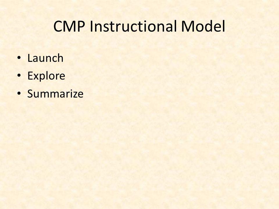 CMP Instructional Model Launch Explore Summarize