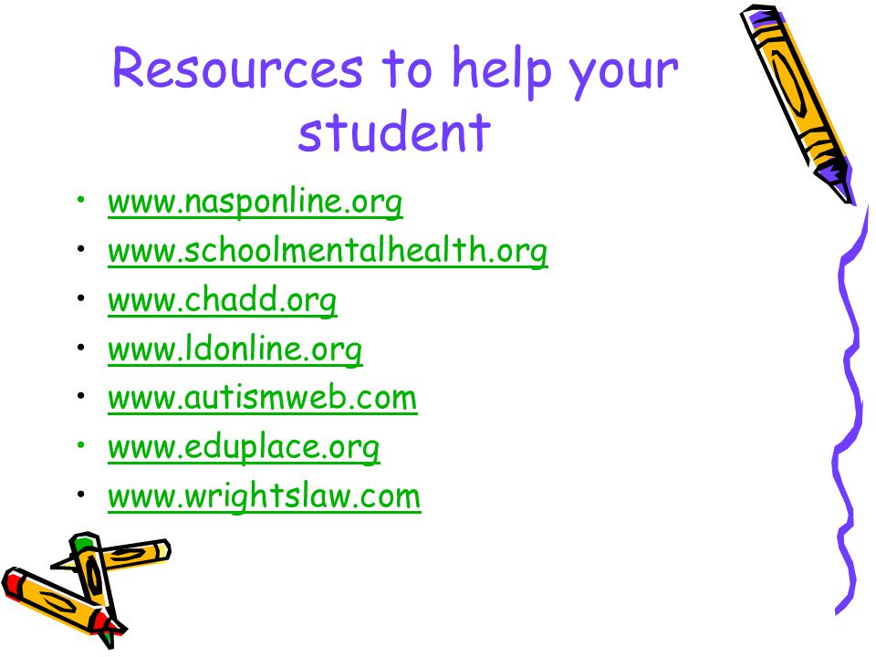 Resources to help your student