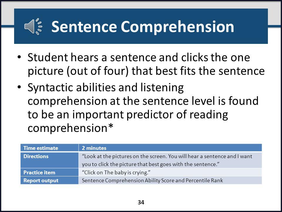 Reading Comprehension (Teacher Passage Screen) 33