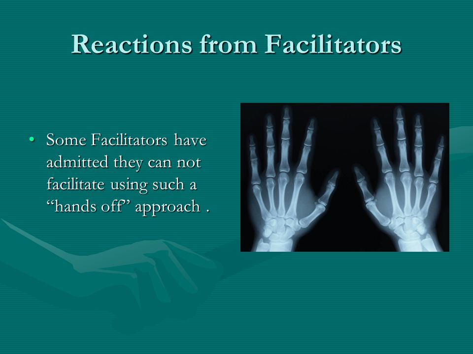 Reactions from Facilitators Difficult for some Facilitators to step back after having been heavily involved based on pilot's procedures.Difficult for some Facilitators to step back after having been heavily involved based on pilot's procedures.