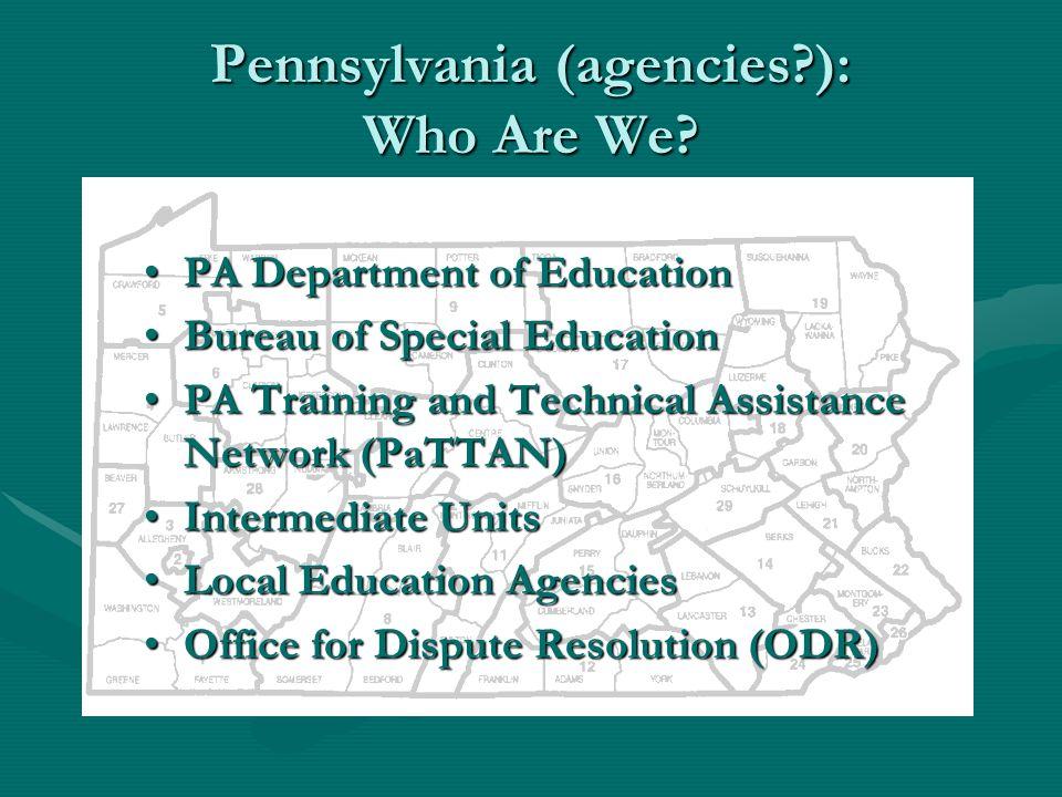 Pennsylvania (agencies?): Who Are We.