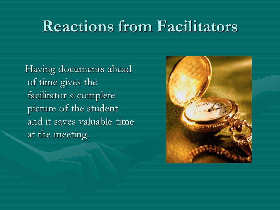 Reactions from Facilitators In some instances mediation might be an option to resolve disagreements not related to the IEP.