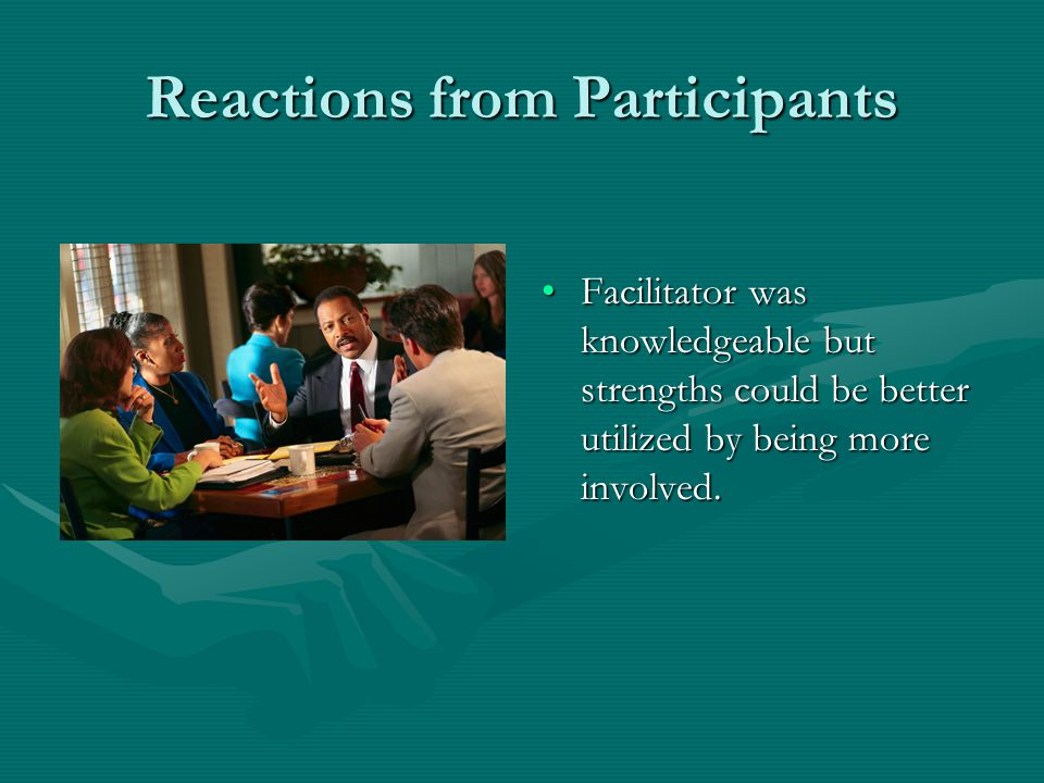 Reactions from Facilitators Having documents ahead of time gives the facilitator a complete picture of the student and it saves valuable time at the m
