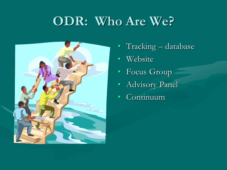 Office for Dispute Resolution (ODR) Who Are We? ConsultLineConsultLine Call Resolution Process (CRP)Call Resolution Process (CRP) Dispute Resolution S