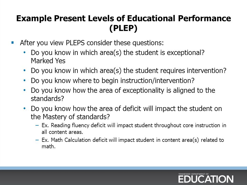 PLEP-Associated Deficit in Reading Subtest: Basic Reading Letter Sound Fluency: Given a 1 minute letter sound fluency assessment, Susan accurately sounded 42 letters.