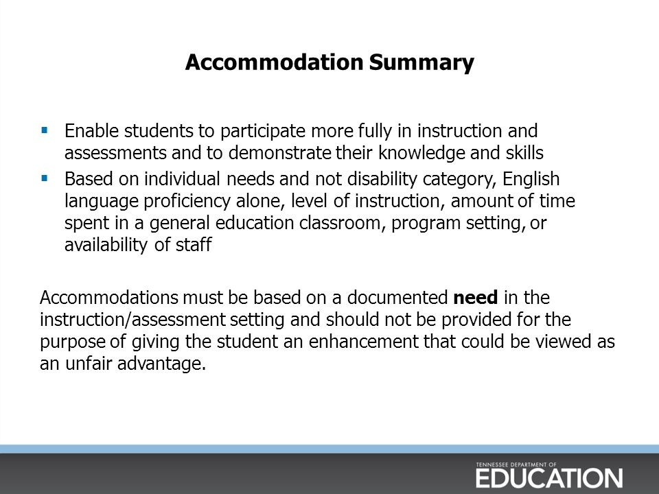 5 Step Process for Accommodation Selection 1.