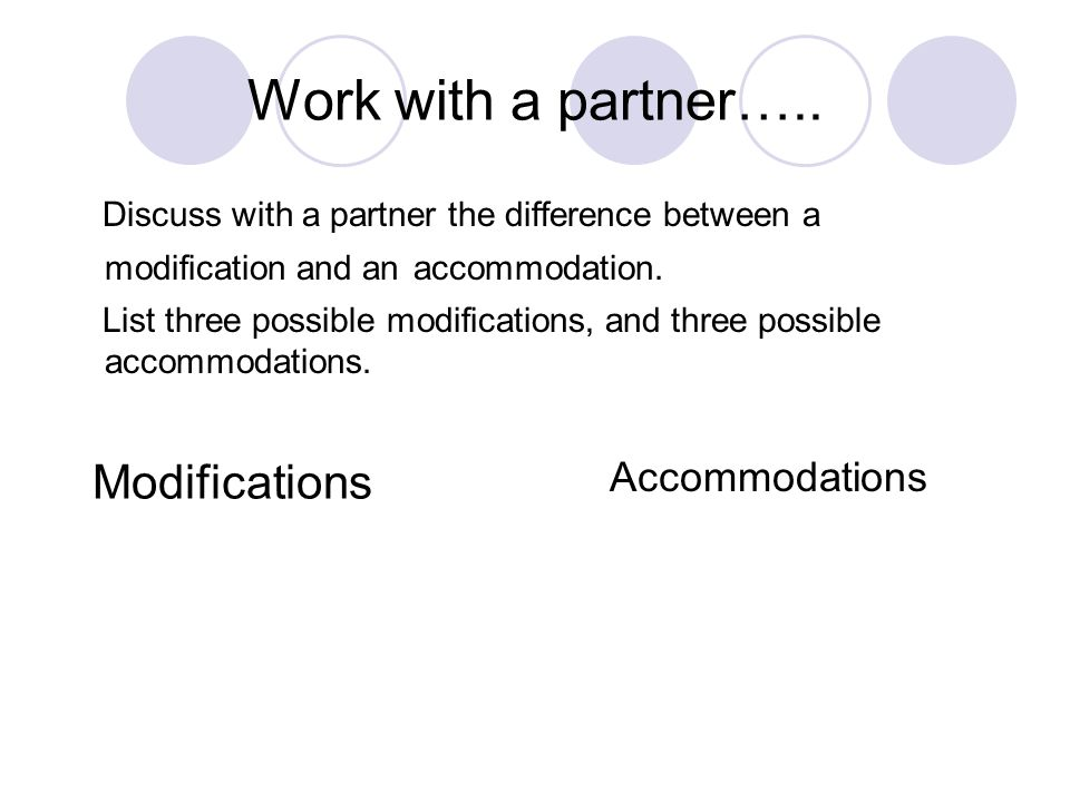 Work with a partner…..