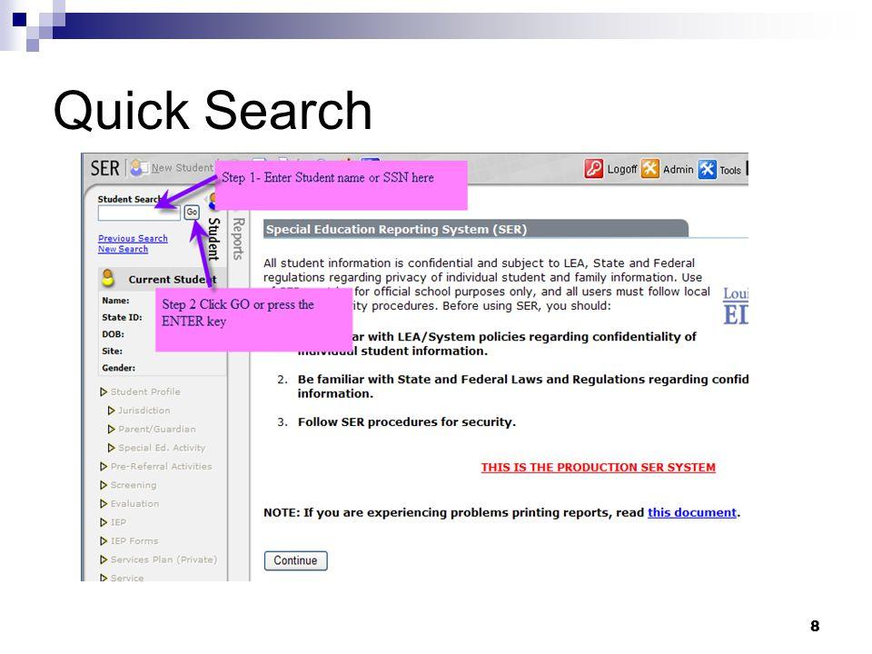 8 Quick Search