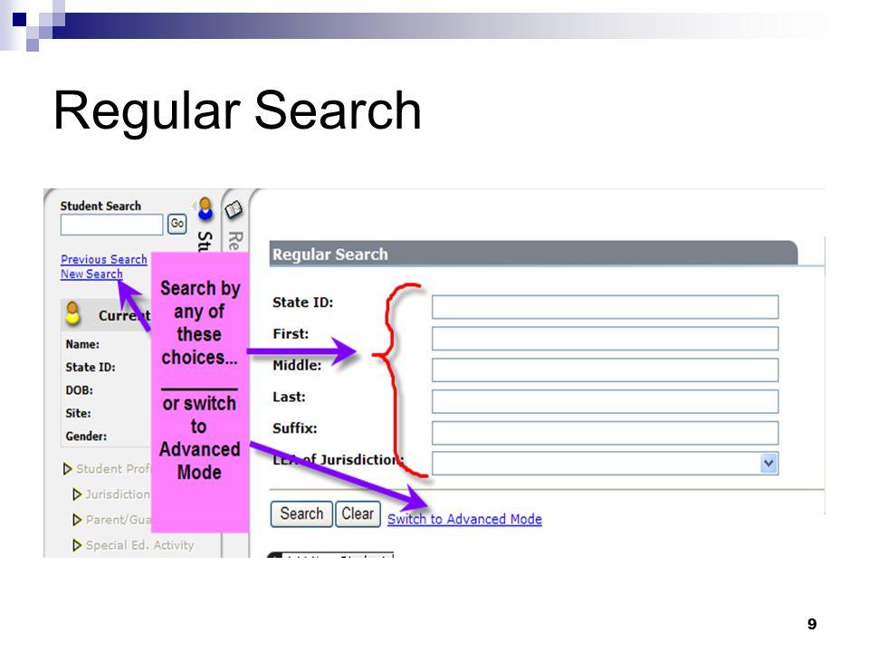 9 Regular Search