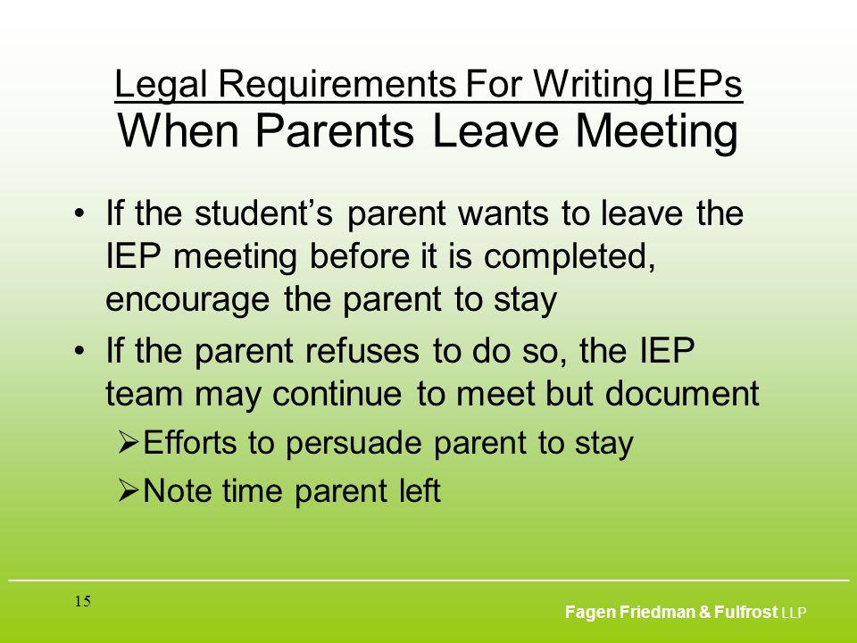 ___________________________________________________________________________________________ Fagen Friedman & Fulfrost LLP 15 Legal Requirements For Wr