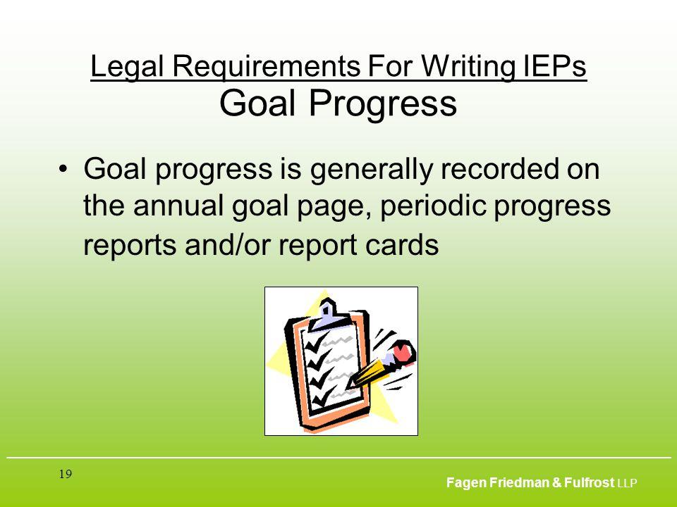 ___________________________________________________________________________________________ Fagen Friedman & Fulfrost LLP 19 Legal Requirements For Wr