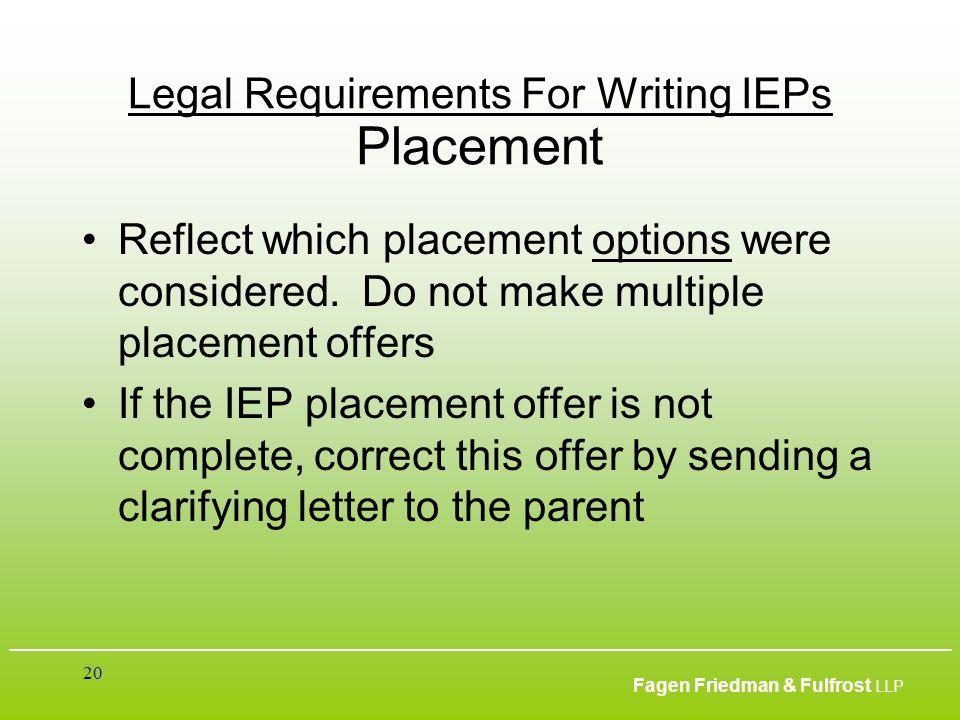 ___________________________________________________________________________________________ Fagen Friedman & Fulfrost LLP 20 Legal Requirements For Wr