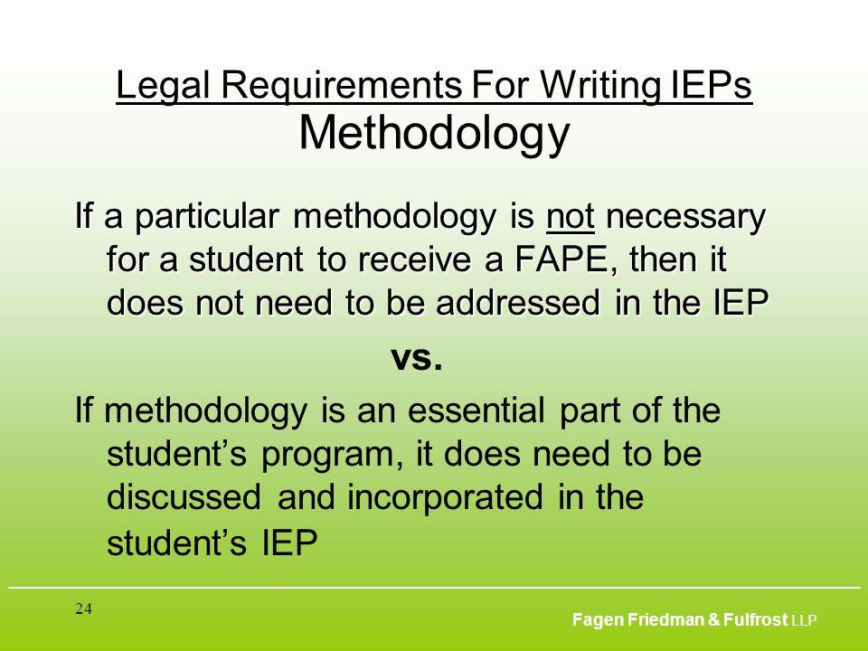 ___________________________________________________________________________________________ Fagen Friedman & Fulfrost LLP 24 Legal Requirements For Wr