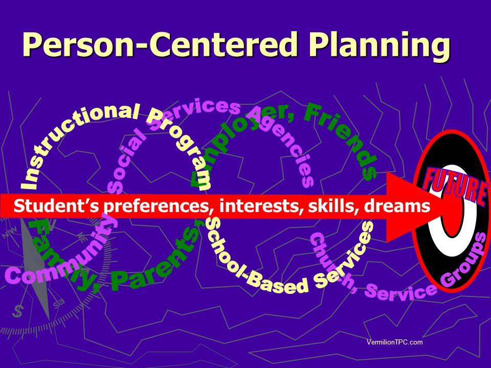 VermilionTPC.com Person-Centered Planning Student's preferences, interests, skills, dreams