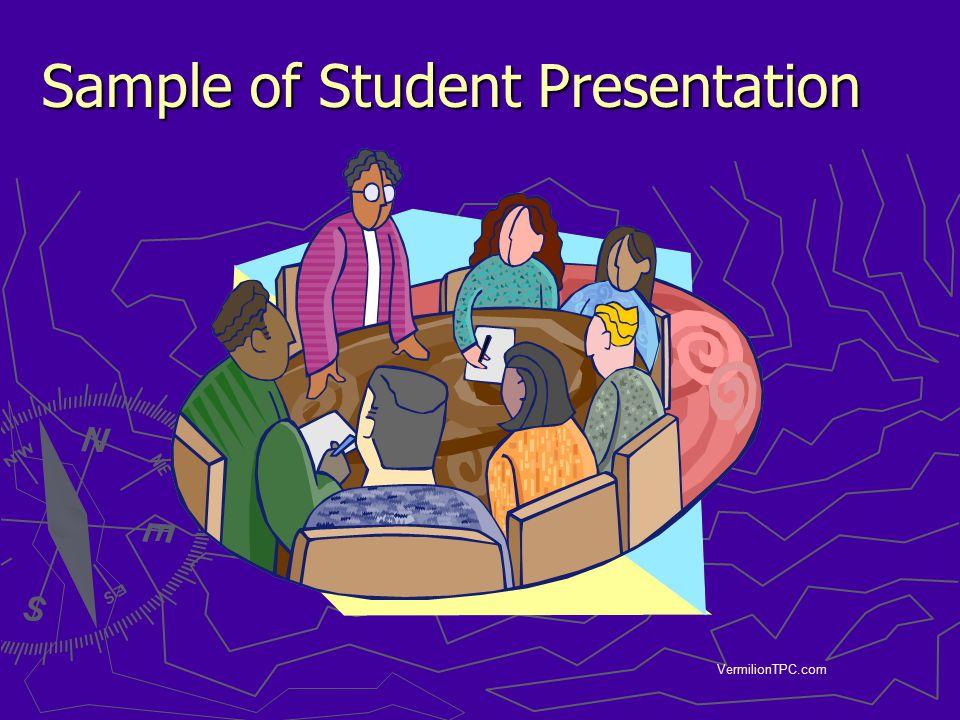 VermilionTPC.com Sample of Student Presentation