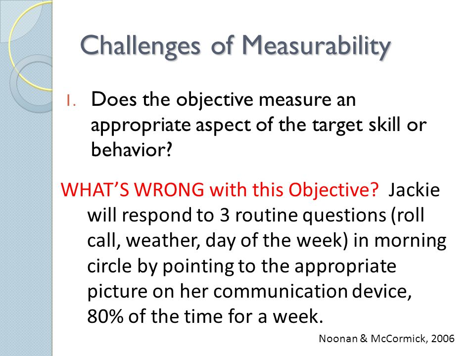 Challenges of Measurability 1.
