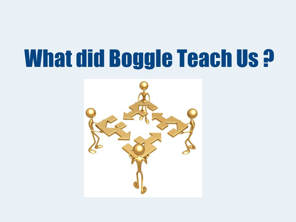 Activity Boggle Game