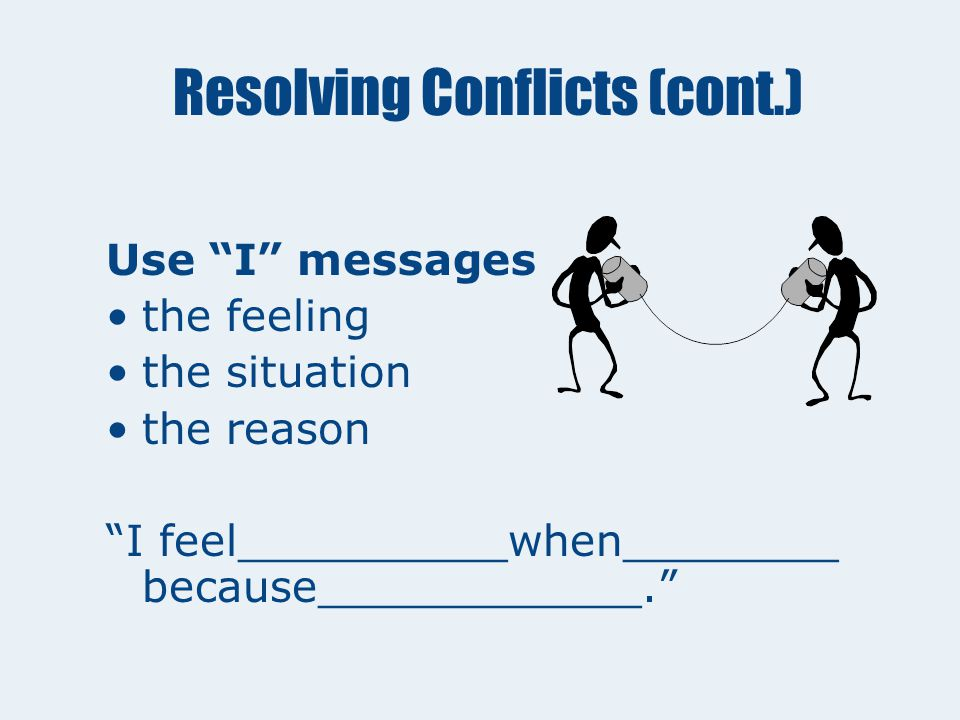 Resolving Conflicts When They Occur