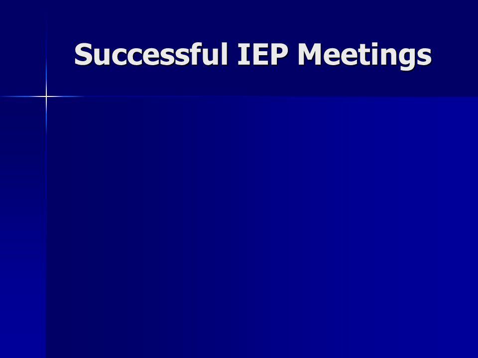 Successful IEP Meetings