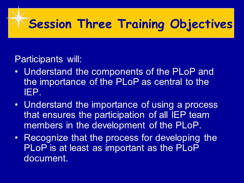 Develop the PLoP Understandable Language 1.Does this description tell me clearly what I need to know about this student if he or she was going to be in my class next year.