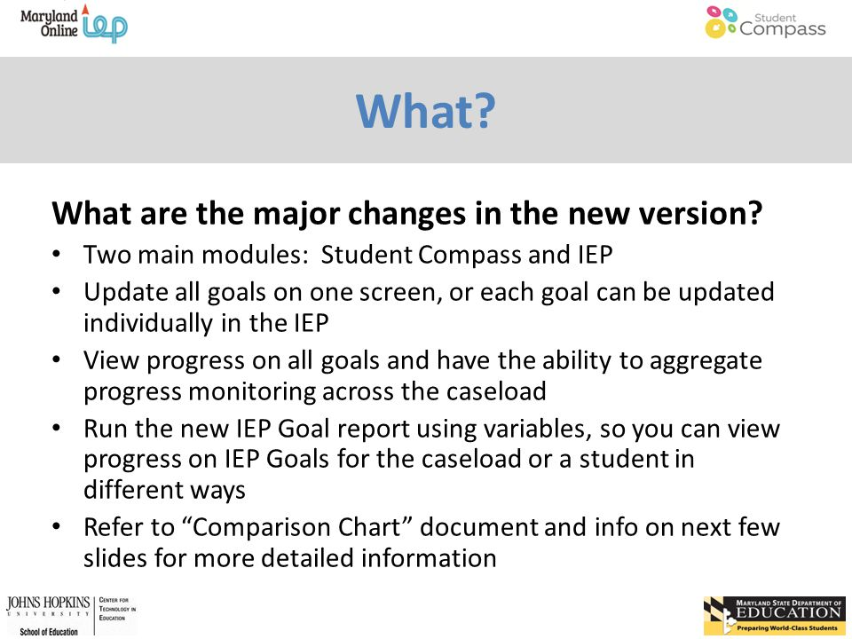 What. What are the major changes in the new version.
