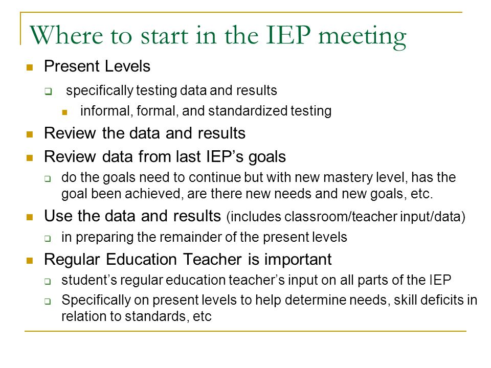 What should the IEP team do. What is in the IEP. Who should write and be involved in the IEP.