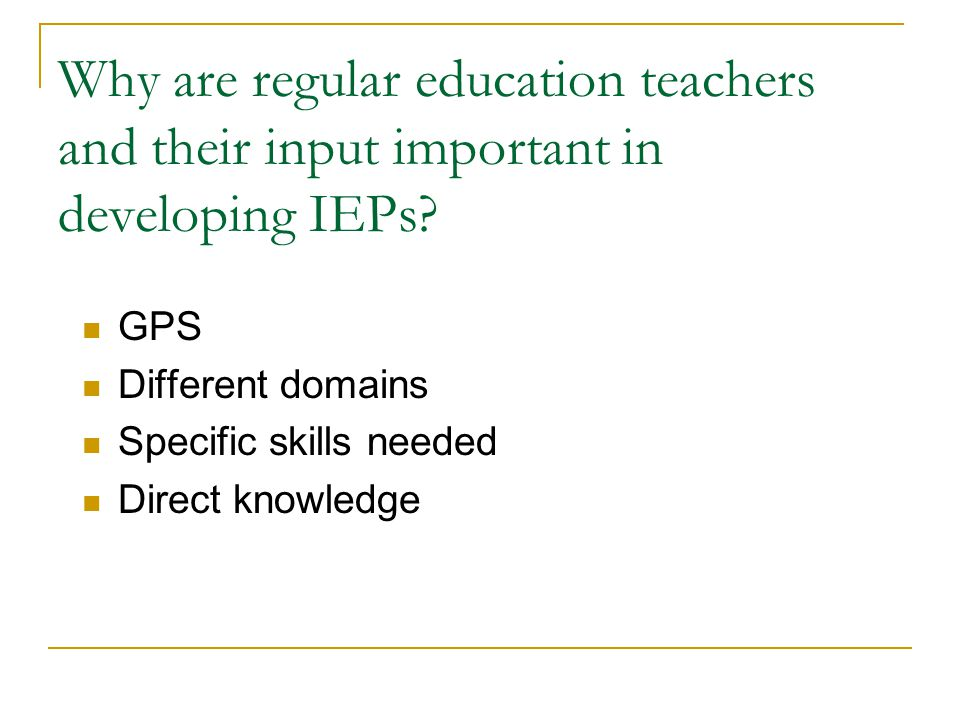If you have a disability, do you automatically need and receive special education and an IEP.