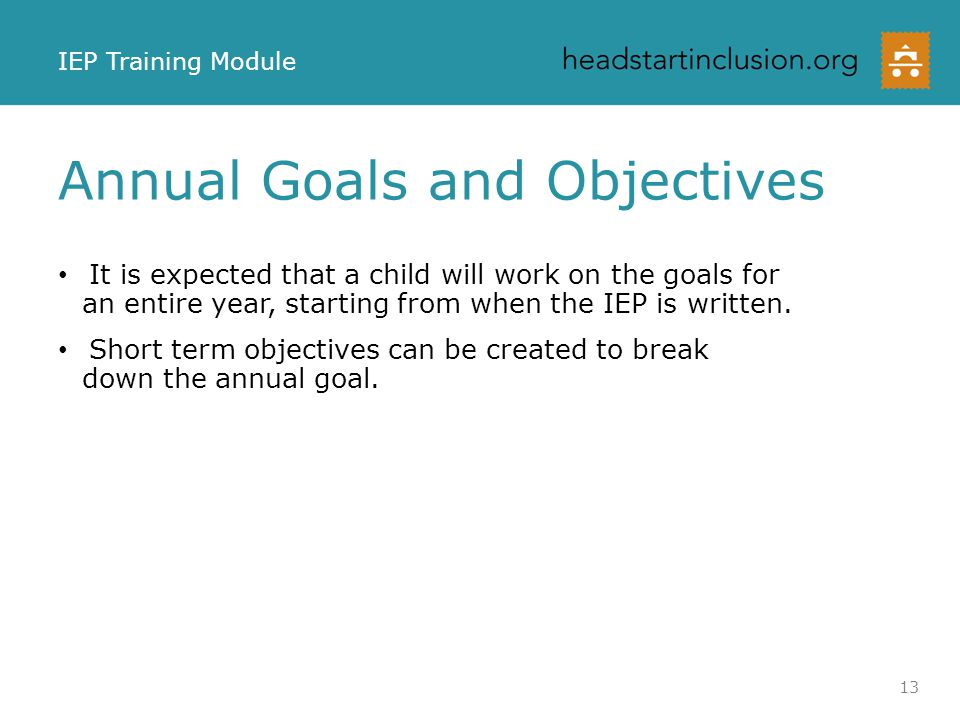 Goals and Objectives Activity What do you see as differences in the objectives.
