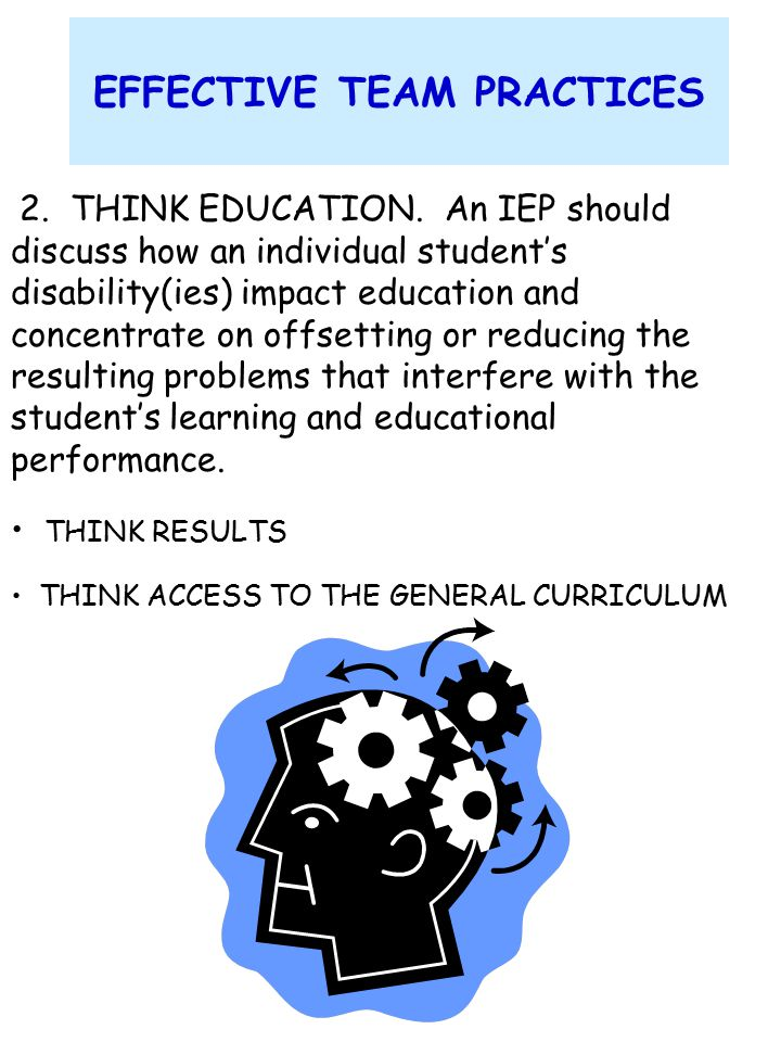 What to Think About Before the IEP Meeting General Educator 1.
