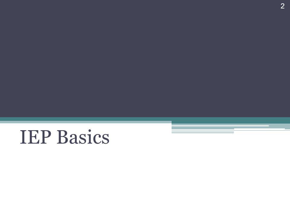 IEP Basics 2