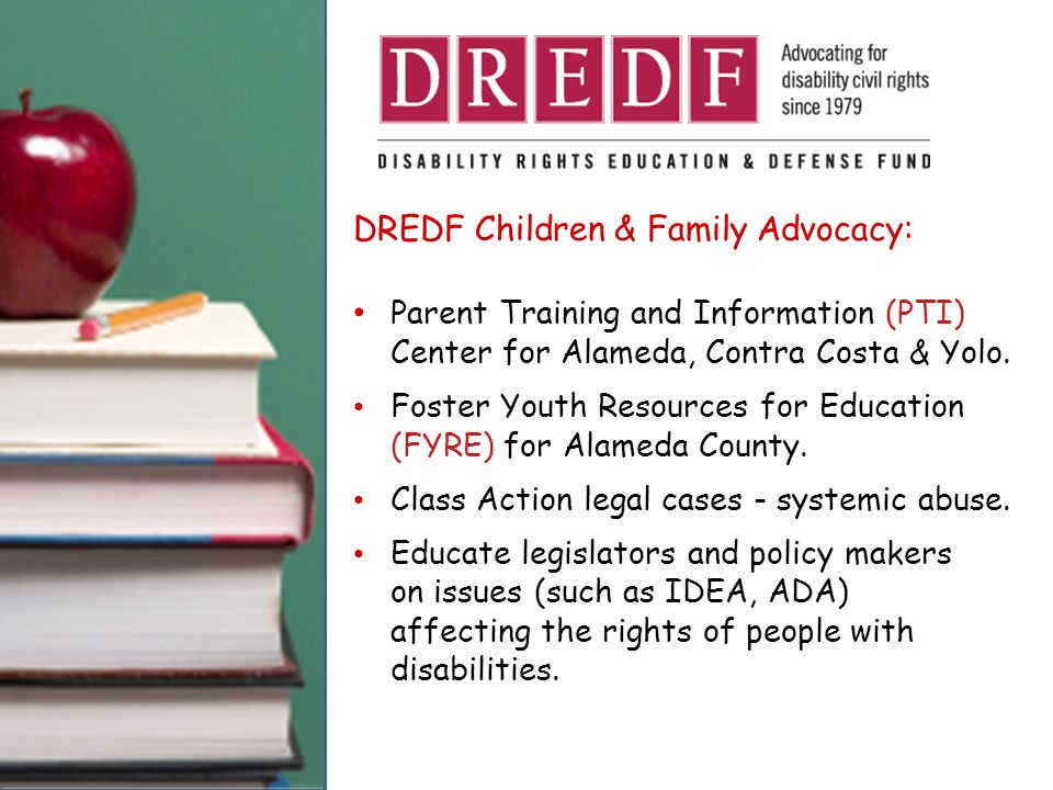 DOWNLOAD DREDF Training Materials & Publications.