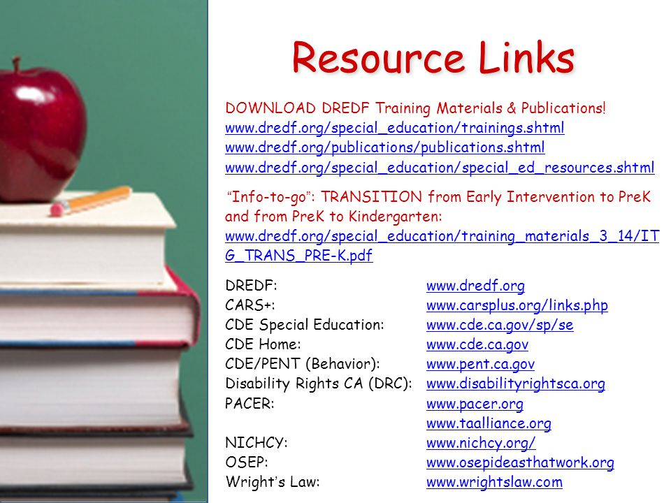 DOWNLOAD DREDF Training Materials & Publications.