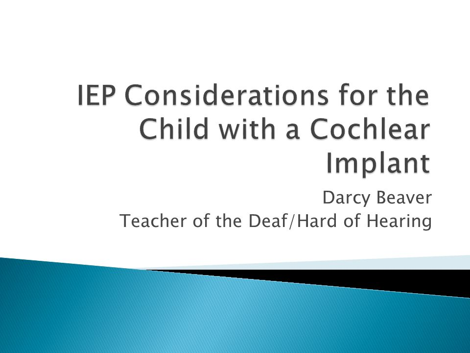  Conclusions: Early cochlear implantation had a long term positive impact on auditory and verbal development but did not result in age- appropriate reading levels in high school for the majority of students.