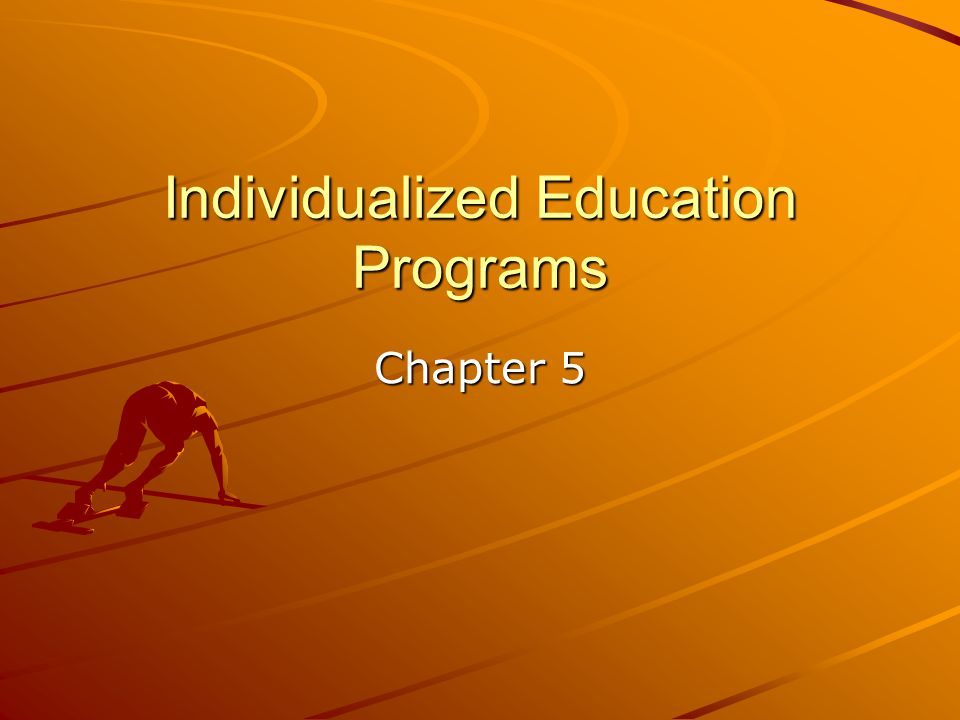 Statement of Participation in General Settings Assumption is made that child ordinarily will be educated in the general education program as much as possible.