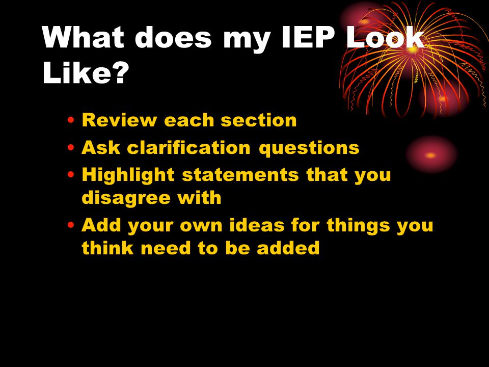 What does my IEP Look Like.