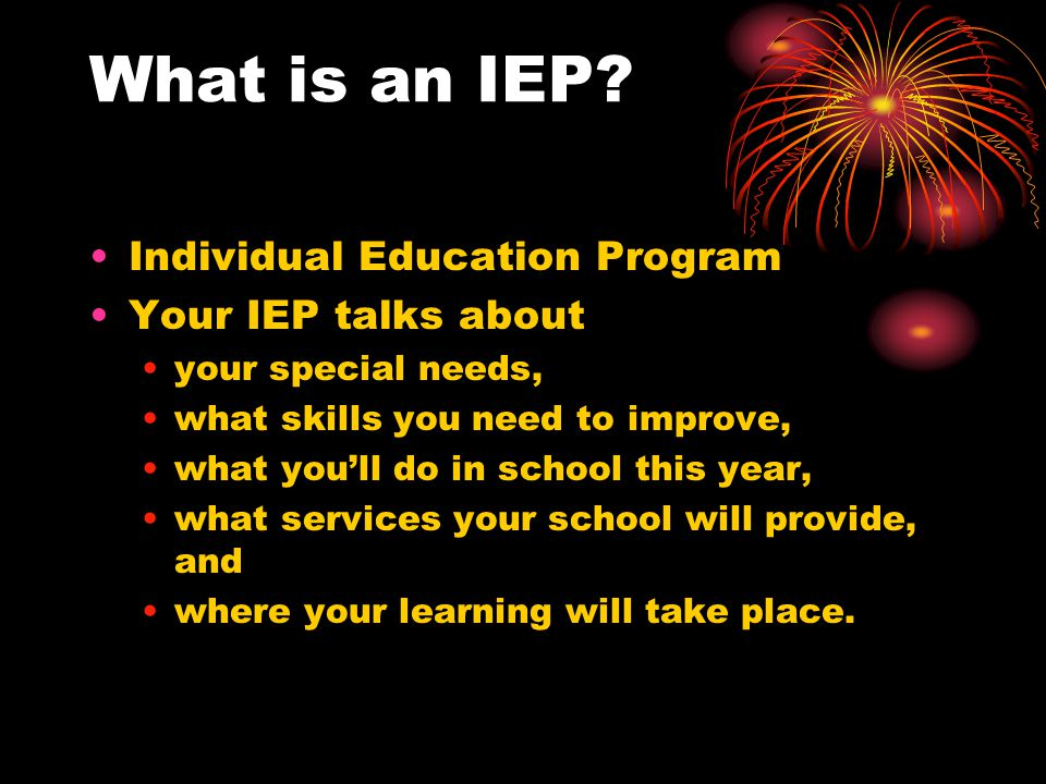 Before the IEP