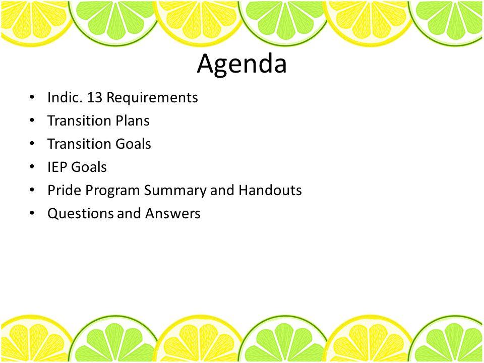 Agenda Indic.