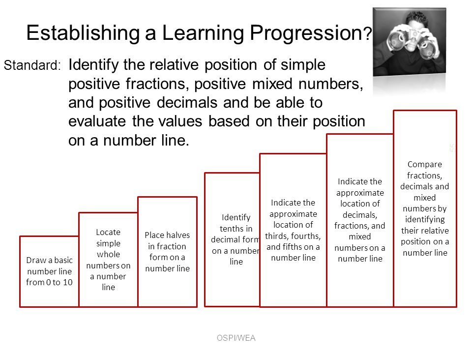 Establishing a Learning Progression .