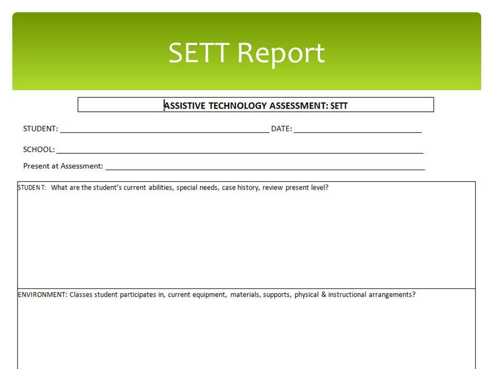 SETT Report