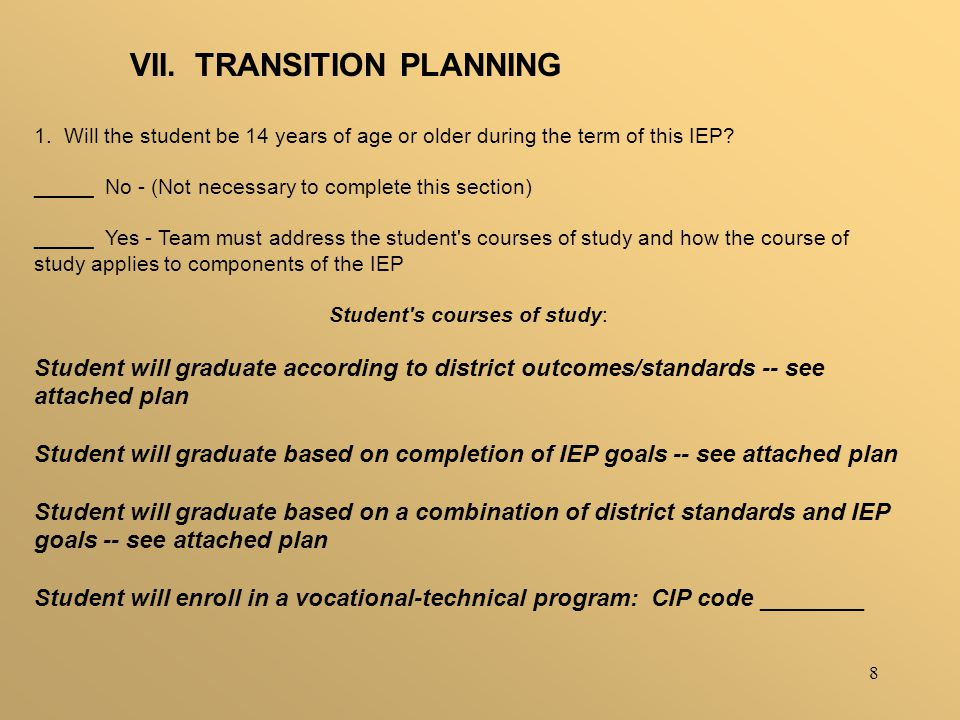 9 SERVICELOCATIONFREQUENCYPROJECTED BEGINNING DATE ANTICIPATED DURATION Post-secondary Education / Training Outcome: How Service will be provided: Person Responsible
