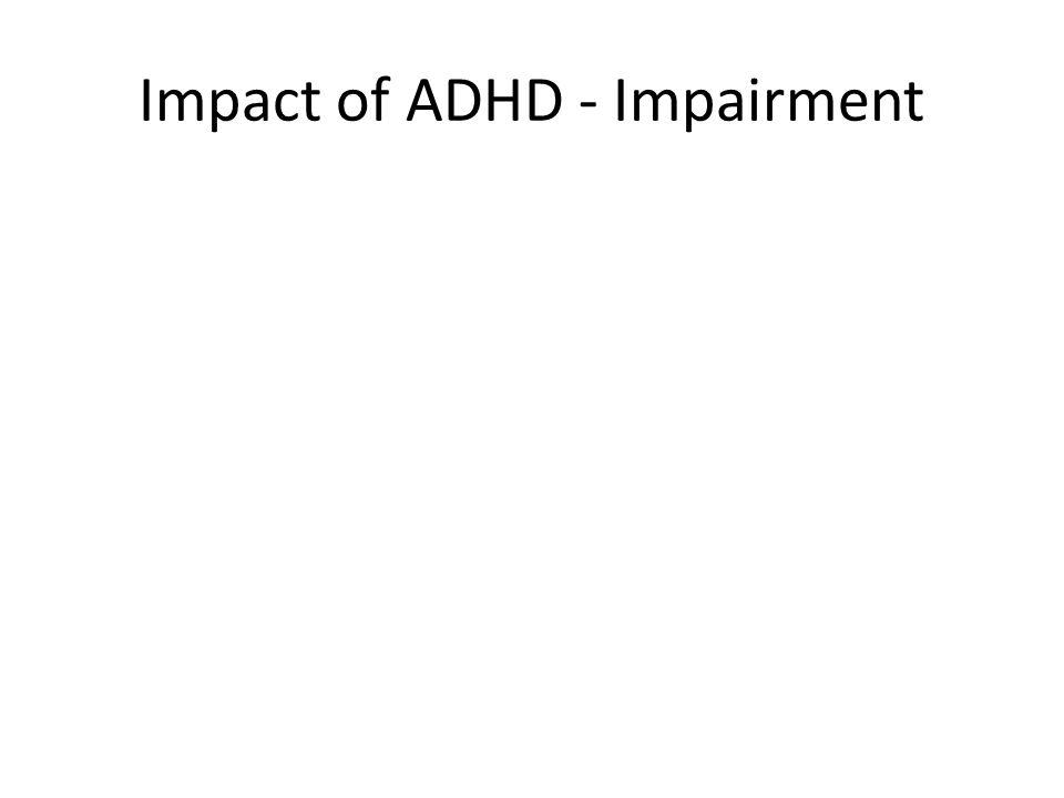Impact of ADHD - Impairment