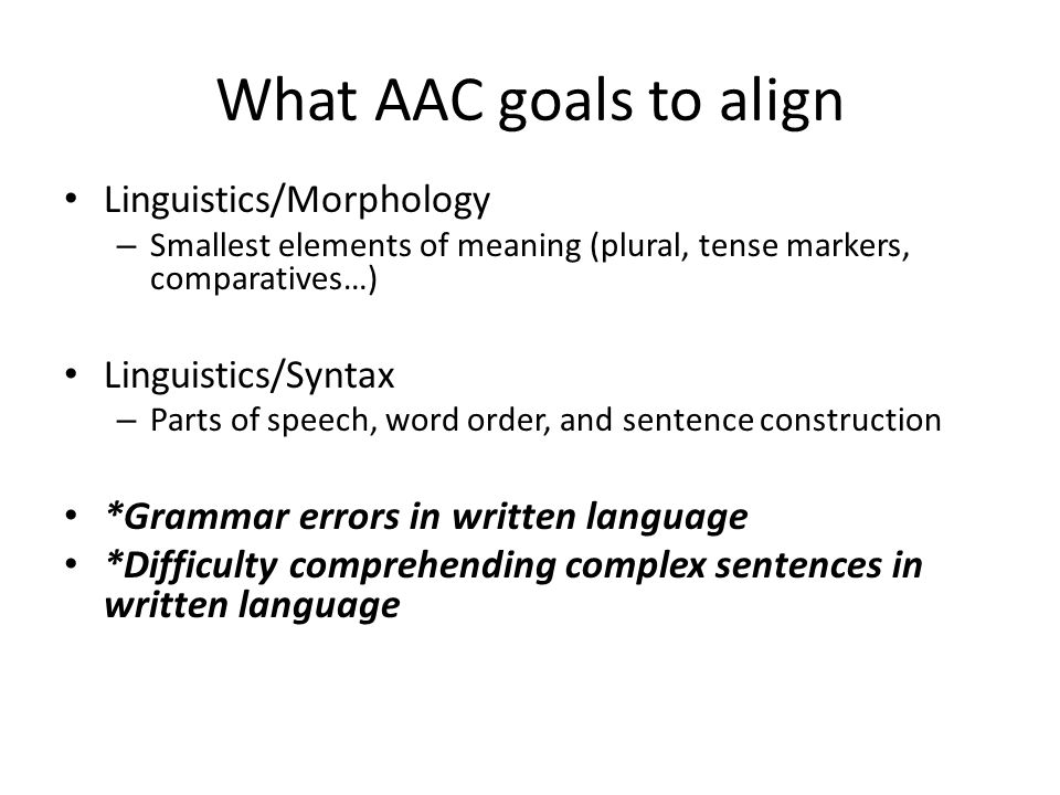 How to Align to State Standards Use a systematic approach Address: – Language needs – Academic needs – State standards that underlying Language needs and Academic needs both affect – Aligned goal