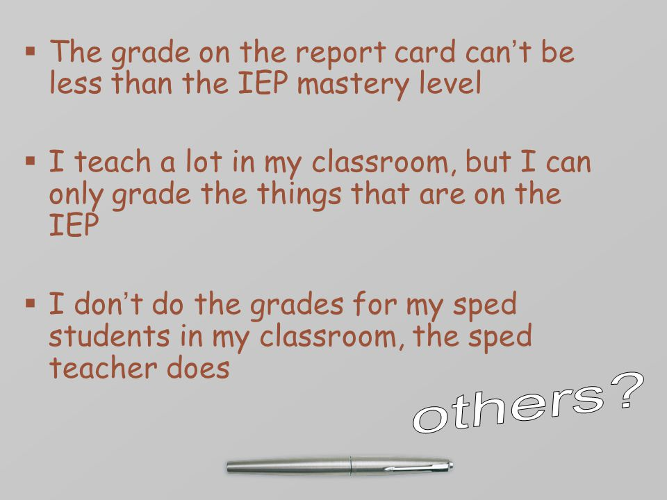 If the IEP Team recommends a grading accommodation, will that affect the graduation option.